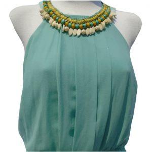Vestido de noche color turquesa