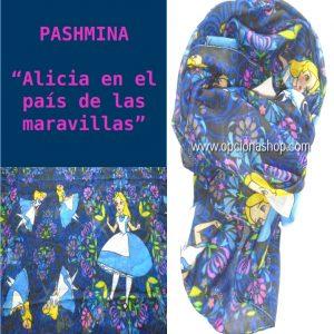 Pashmina Alicia en el país de las maravillas