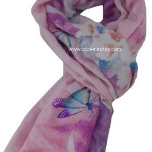 Pashmina mariposa en flores