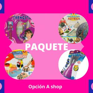 4 juguetes nuevos paquete